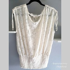 Anthropologie Deletta Lace Blouse Top